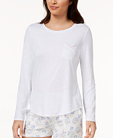 Ande Lush Luxe Lace-Pocket Pajama Top