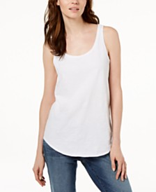 Eileen Fisher SYSTEM Organic Cotton Tank Top, Regular & Petites