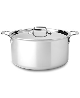 All Clad Stainless Steel 8 Qt Covered Stockpot Cookware