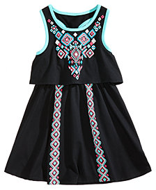 Epic Threads Popover Geo-Print Dress, Toddler Girls, Created for Macy's