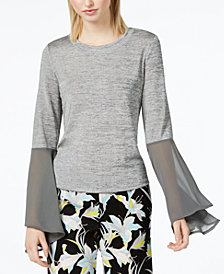 Bar III Bell-Sleeve Top, Created for Macy's
