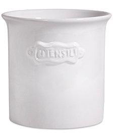 Home Essentials White Ceramic Utensil Crock