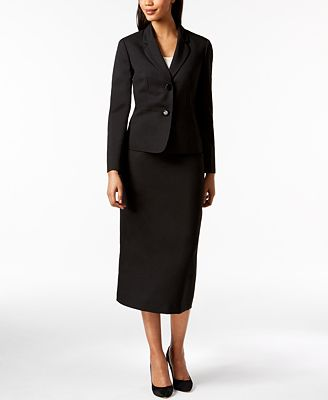 Le Suit Two Button Skirt Suit Wear To Work Women Macy S