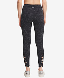 DKNY Sport High-Waist Grommet-Trim Athletic Leggings