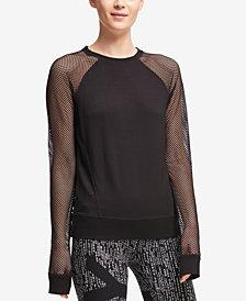 DKNY Sport Sheer-Sleeve Sweatshirt