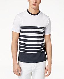 A|X Armani Exchange Men's Stripe Logo-Print T-Shirt, Created for Macy's