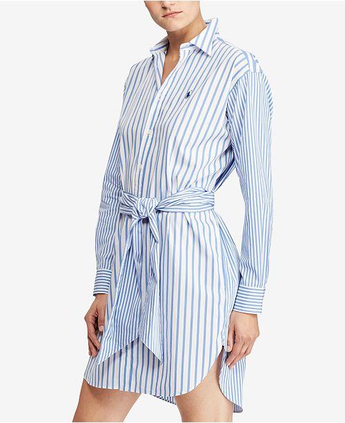 813d1abc1fd7 Polo Ralph Lauren Striped Cotton Shirtdress & Reviews - Dresses ...