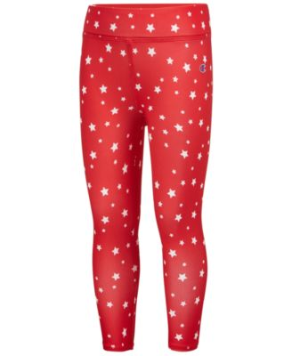 Star-Print Capri Leggings, Little Girls