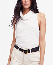 Free People Summer Thing Sleeveless Mock-Neck Top