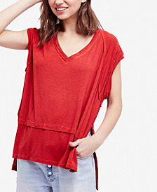 Free People Voyage Draped Tiered T-Shirt