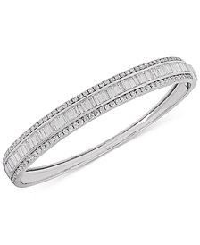 Arabella Swarovski Zirconia Bangle Bracelet in Sterling Silver