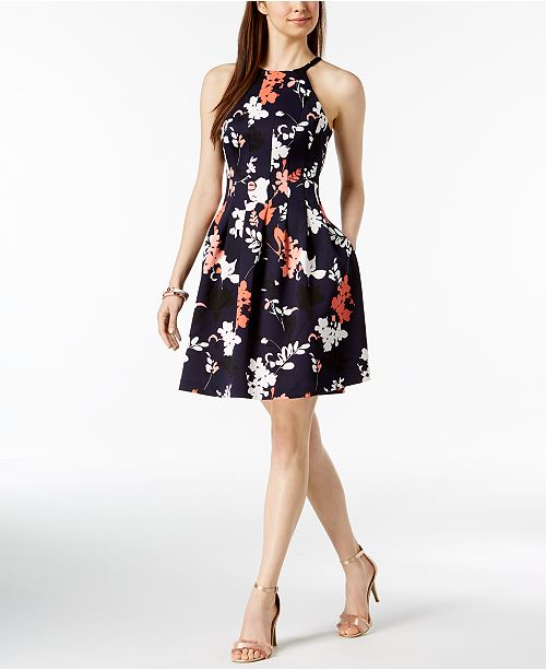 e9f180cd37d7 Vince Camuto Floral Printed Fit   Flare Dress   Reviews - Dresses ...