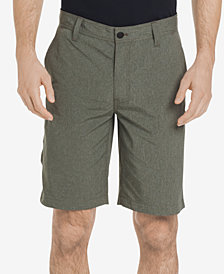 G.H. Bass & Co. Men's Cliff Peak Classic-Fit Stretch Performance Heather Hybrid Shorts