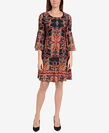 NY Collection Bell-Sleeve A-Line Dress