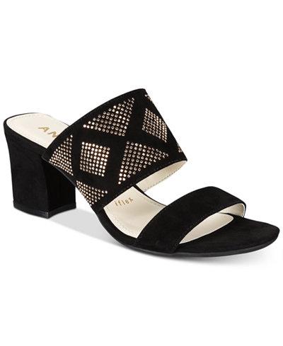 Anne Klein Nara Block-Heel Dress Sandals