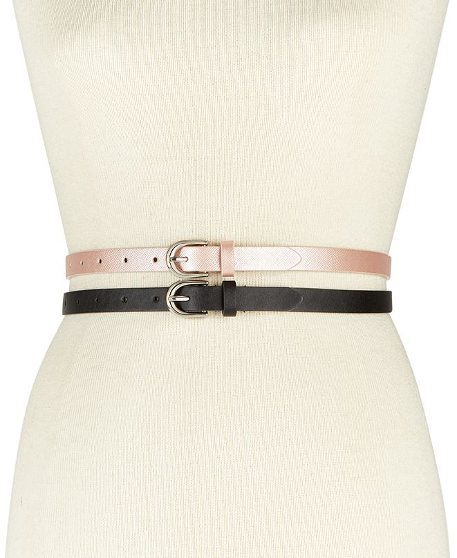 INC International Concepts INC 2-for-1 Solid Belts, Created for Macy's