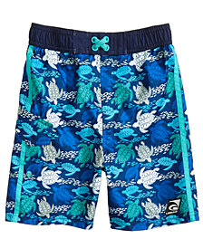 Laguna Sea Turtle-Print Swim Trunks, Toddler Boys & Little Boys