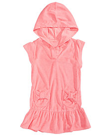 Summer Crush Hooded Bows Cover-Up, Toddler Girls & Little Girls