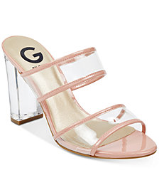 G by GUESS Brayla Lucite Dress Sandals