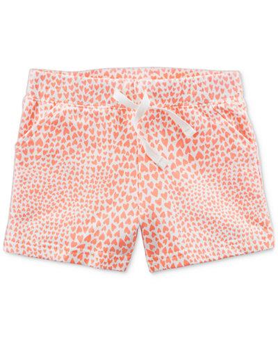 Carter's Heart-Print Cotton Shorts, Toddler Girls