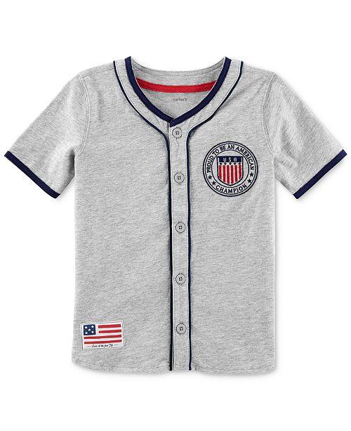 4c0838b36 Carter's Cotton Baseball Jersey, Toddler Boys & Reviews - Shirts ...