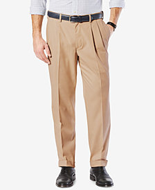 Dockers Men's Comfort Classic Pleated Fit Stretch Pants