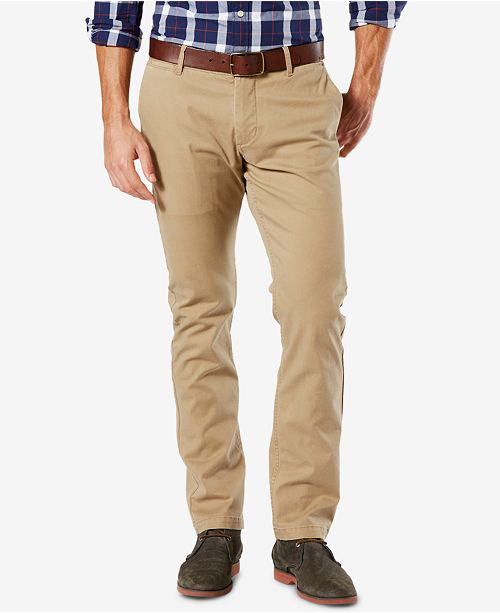 e4411cf55f8c Dockers Men s Washed Slim Tapered Fit Khaki Stretch Pants   Reviews ...