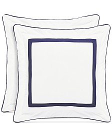 "Piper & Wright Betsy White 18"" Square Decorative Pillow"