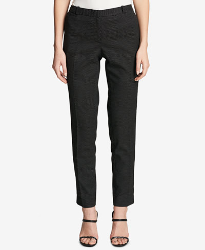 Tommy Hilfiger Pin-Dot Printed Ankle Pants