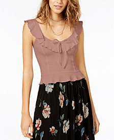American Rag Juniors' Ruffled Tank Top, Created for Macy's