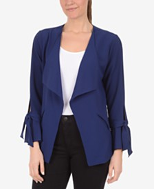 NY Collection Bell-Sleeve Blazer