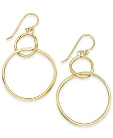 Large Silver Plated Twisted Looped Drop Earrings