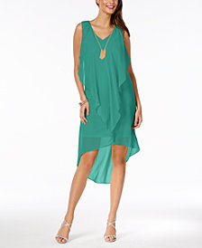 Thalia Sodi Ruffled High-Low Shift Dress, Created for Macy's