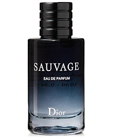 Receive a Complimentary Dior Sauvage Eau de Parfum Deluxe Mini with any large spray purchase from the Dior Men's Fragrance Collection