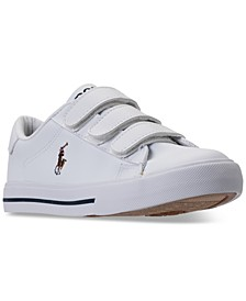 폴로 랄프로렌 남아용 스니커즈 Polo Ralph Lauren Little Boys Easten II EZ Casual Sneakers from Finish Line,WHITE TUMBLED/MULTI PP