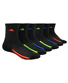 adidas 6-Pk. Crew Socks, Little Boys & Big Boys