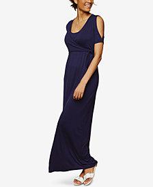 Motherhood Maternity Cold-Shoulder Nursing Maxi Dress