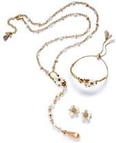 003cb8e30da7 Lonna   Lilly Gold-Tone Multi-Stone   Flower Jewelry Separates