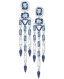 Swarovski Silver-Tone Clear & Color Crystal Chandelier Earrings