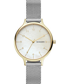 Skagen Women's Anita Stainless Steel Mesh Bracelet Watch 36mm