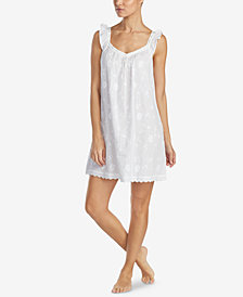 Lauren Ralph Lauren Fashion Wovens Cotton Ruffle-Trim Nightgown