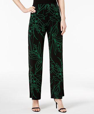 Alfani Petite Printed Soft Pants, Created for Macy's