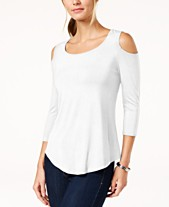 fda444945ccf Cold Shoulder Tops: Shop Cold Shoulder Tops - Macy's
