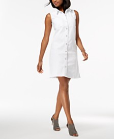 Style & Co Denim Shirtdress, Created for Macy's