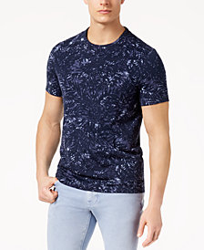 Michael Kors Men's Waterstain Palm-Print Pima Cotton T-Shirt