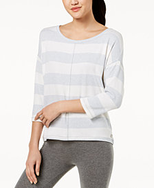 Calvin Klein Performance Striped Boat-Neck Top