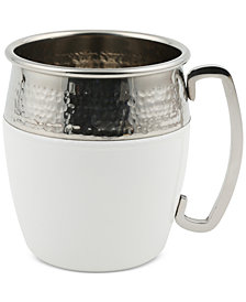 CLOSEOUT! Thirstystone White & Hammered Stainless Steel Mug