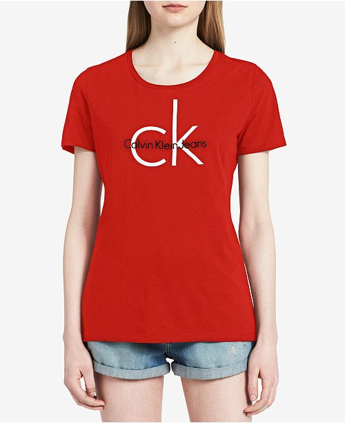 40e0d62e Calvin Klein Jeans Logo Graphic T-Shirt & Reviews - Tops - Women ...