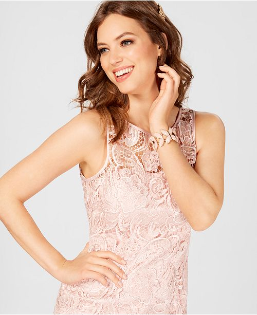 bee7b03d Adrianna Papell Lace Sheath Dress & Reviews - Dresses - Women - Macy's