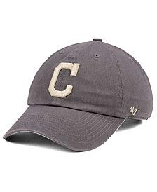 '47 Brand Cleveland Indians Dark Gray CLEAN UP Cap